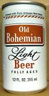 OLD BOHEMIAN LIGHT BEER 12oz alum CAN Eastern Brwy, Hammonton NEW JERSEY 1985 1+