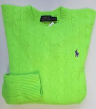 NWT Polo Ralph Lauren Cable Sweater Cashmere/Wool Size L