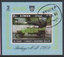 Ajman - 1970, voitures vintage (durkhopp 1909) feuille - CTO