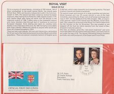 (K74-4)1982 Fiji FDC Royal visit British commonwealth summer collection &page(D)