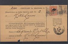 HOUSEHOLDER receipt ADMIRAL $1.00 single use dated 1928 Circular Canada
