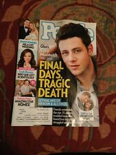 People Magazine July 29, 2013 Glee's  Cory Monteith