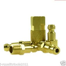 "5pc 1/4"" Brass Coupler Set Automotive Truflate Type Solid Brass"