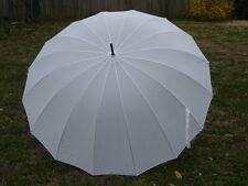 White Wedding Umbrella 16 Panel Classic Design 60 Inch Free Shipping