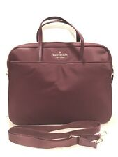 NEW Kate Spade Universal Nylon Leather Laptop Commuter Bag PLUM MacBook HP Dell