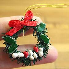 Dollhouse Miniature 1:12 Plastic Christmas Wreath Door Floral Decoration SPO338