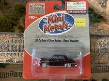 HO Scale 1:87 CMW Mini Metals 1955 DeSoto 4 door sedan Royal Maroon #30314 new