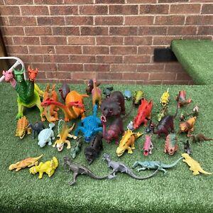 Large Dinosaur Figures Bundle - 39 Mixed Dinosaurs - Mixed Sizes - Used