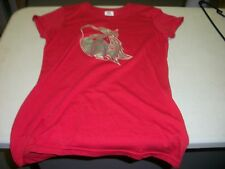 SOUTH BEND SILVER HAWKS LADIES T-SHIRT - RED - MEDIUM