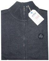 MAGLIA FELPA UOMO M L XL XXL 3XL giacca zip blu melange cotone Be Board novità
