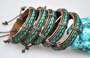 G191 Lot 5pc Cool Braided Leather Hemp Friendship Bracelet Bangle Wristband Men