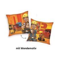 Bob der Baumeister Kuschelkissen Kinderkissen ca. 40 x 40 cm orange