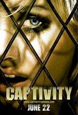 "CAPTIVITY - 2007 - original 27x40 ADVANCE ""B"" movie poster - ELISHA CUTHBERT"