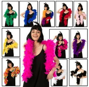 85G Luxury Feather Boa Dance Burlesque Fancy Dress UK 1.8M Thick 14 Colours