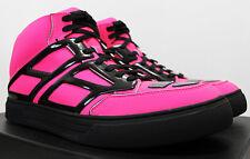 $525 ALEJANDRO INGELMO Tron Neon Fuschia-Pink Mid Top Sneakers 43 10 Trainers