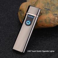 USB Charging Fingerprint Touch Electric Lighter Flameless Windproof Cigarette