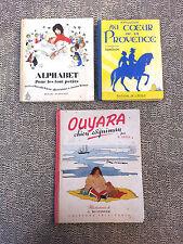 Lote de 3 antiguos libros pour enfants, BD o educativo old french book