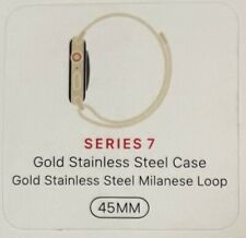 Apple Watch Series 7 45mm Gold Stainless Steel Milanese Loop GPS Cellular LTE