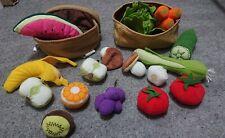 IKEA Duktig fabric Shopping Basket Role Play Food fruit veg vegetables bundle