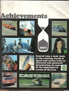 Castrol Achievements 1967 Racing + Rallying successes  Air Water Car Motorcycle