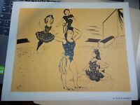 SERGE (1909-1992) Litho ORIGINALE ACROBATIE CIRQUE SPECTACLE ENFANTS CIRCUS 1950