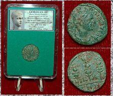 Roman Empire Coin GORDIAN III Three Standards On Reverse Nicaea Bithynia Mint