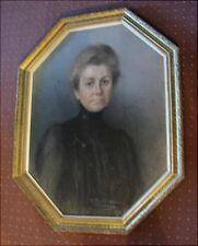 Schönes altes Gemälde Pastell von 1901 Helene Frauendorfer - Mühlthaler von