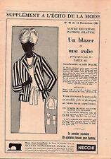 ▬► Patron Couture Écho de la Mode - 1961 N°46 - Taille 46 48 50 - blazer et robe
