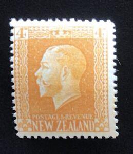 New Zealand Stamp 1915 KGV Recess Print 4d Yellow - UHM