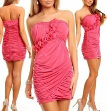 c4bc61a59b69b8 SeXy MiSS Damen Bandeau Push up Raff Mini Kleid Party Dress Strass 34/36/