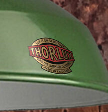 THORLUX Industrial shade DECAL, printed  Black, Coral Red and Metallic Gold.