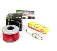 HONDA TRX 400EX 400 EX X SPORTRAX OIL FILTER + SPARK PLUG 99-14 TUNE UP 400X