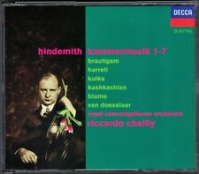 Riccardo CHAILLY: HINDEMITH Kammermusik 1-7 HARRELL KASHKASHIAN BRAUTIGAM 2CD