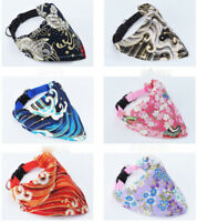 Adjustable Pet Bandana-Style Dog Collars Pet Cat Puppy Neck Scarf Neckerchief