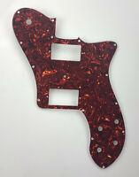 Fits 72 Tele Deluxe Reissue Guitar Pickguard PAF Humbucker, Brown Tortoise