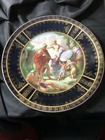 "Royal Vienna Charger 12"" Mythological Beehive Mark, Hand Painted, Gilt/cobalt Bl"