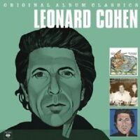 """LEONARD COHEN """"ORIGINAL ALBUM CLASSICS"""" 3 CD NEW+"""