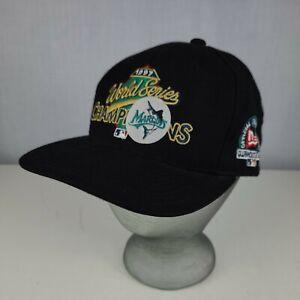 Vintage Florida Marlins 1997 World Series Champions New Era Snapback Hat MLB Cap