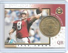 1997 PINNACLE MINT STEVE YOUNG BRASS PROOF COIN & CARD #6 ~ /500 ~ SAN FRANCISCO