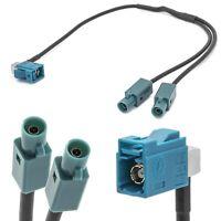 Radio Y-Antennen Adapter FAKRA (Z) Buchse Doppel FAKRA Stecker Kabel für VW
