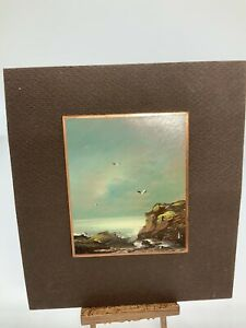 Dollhouse Miniture Artisan Signed Painting On Copper