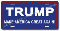 Donald Trump Make America Great Again Political Novelty License Plate Tag Blue