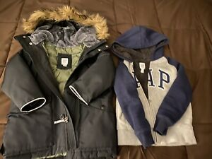 Sprayground Green Army Patches Parka Hoody Battleground Coat Winter Kid Size XS