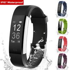 Bluetooth Reloj inteligente Banda Pulsera Deporte Podómetro Presión Arterial Frecuencia Cardíaca