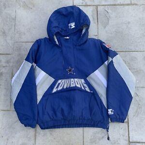 Vintage Dallas Cowboys Starter Jacket NFL Pro Line Authentic 1/4 Size YOUTH XL