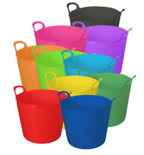 15 26 42L FLEXI TUB BUCKET PLASTIC FLEXIBLE TUBS STORAGE CONTAINER FEED TRUG
