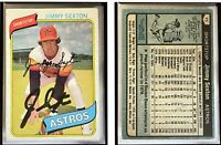 Jimmy Sexton Signed 1980 Topps #11 Card Houston Astros Auto Autograph