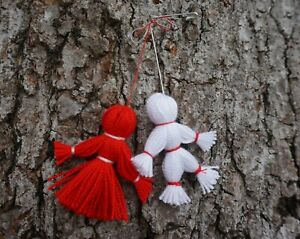 Set of 5 Martisor, Spring symbol of Brooch style, Talisman for all