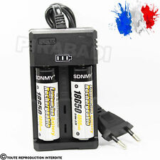 2 PILES ACCU RECHARGEABLE 18650 3.7v 4800mAh BATTERY BATTERIE + CHARGEUR RS-99