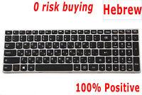 For Lenovo IdeaPad B50-30 B51-80 G50-45 G50-70 Z50-70 Keyboard Hebrew US Silver